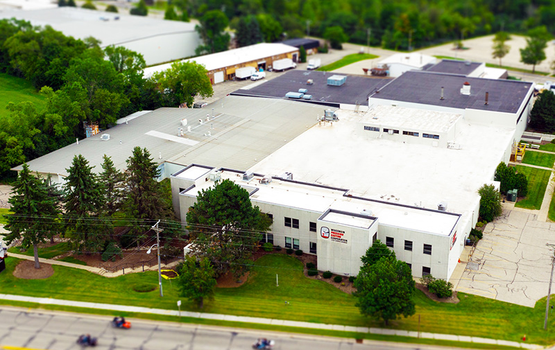 Aerial view of Wisconsin Precision's Lake Geneva Facility